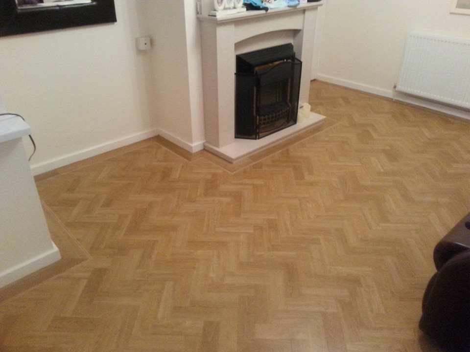 Amtico Signature American Oak Herringbone With Tramline